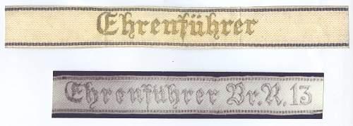 Bouhler Ehrenfuehrer cuff title?
