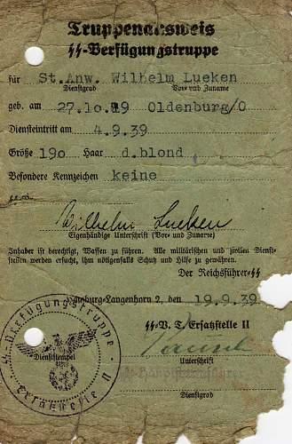 Very rare SS VT Document!!!