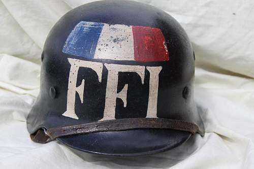 M40 Luftwaffe FFI Black Helmet