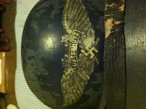 Has anyone seen a non flared side gladiator luftschutz helmet?