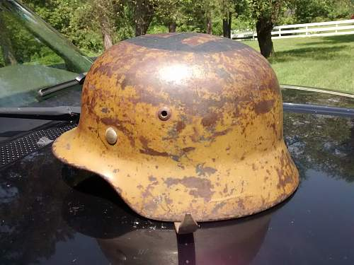 Picked up German helmet from vet,