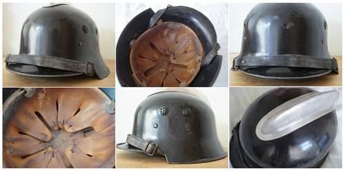 Interesting m34 fireman helmet