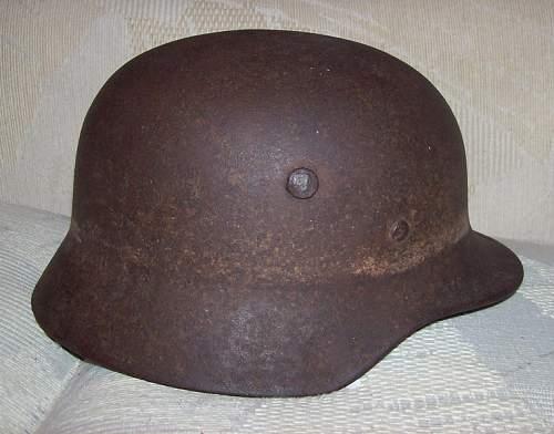 Identifying WW2 German Helmet- NO CLUE:)