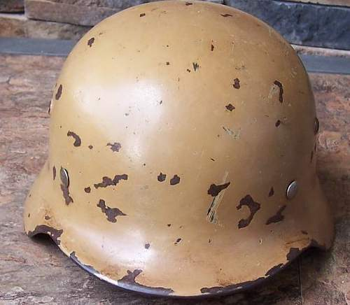 M35 ET64 Tan Camo Helmet shell