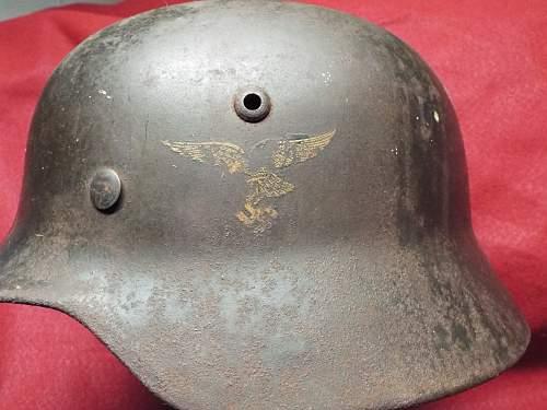 First pattern Luftwaffe DD helm