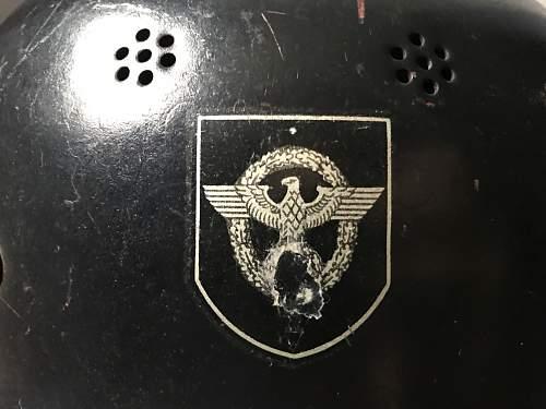 """German Polizei/Feuerschutzpolizei DD M34 """"Square dip"""""""