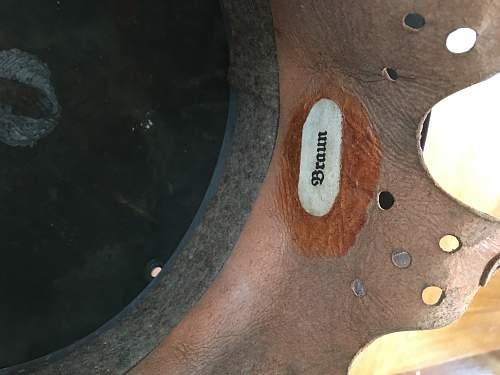 Written on KM helmet