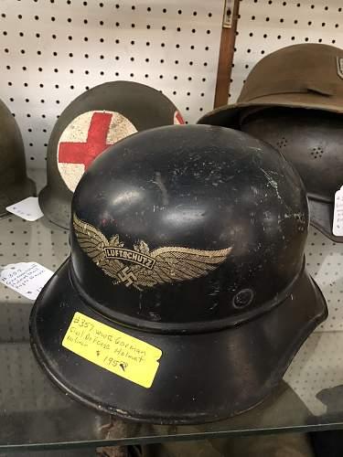 German Helmets at an Antique Mall