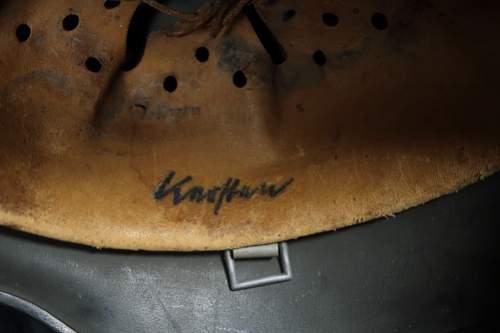Name in helmet