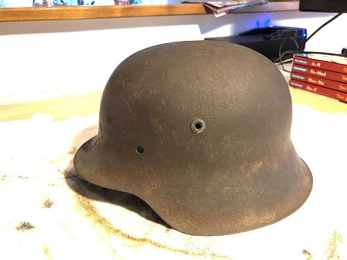 Is this a real M42 Stahlhelm?
