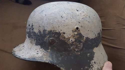 Ground dug find on Leningrad Battlefield.