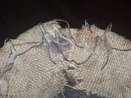 Normandy chicken wire helmet