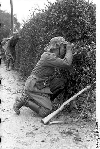 Click image for larger version.  Name:402px-Bundesarchiv_Bild_101I-680-8257-16%2C_Frankreich%2C_Soldat_in_Deckung_hinter_Hecke[1].jpg Views:668 Size:60.6 KB ID:123728
