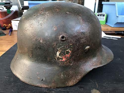 M35 helmed in bad condition