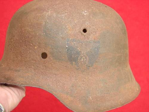 M42 helmet with decal real or fake.