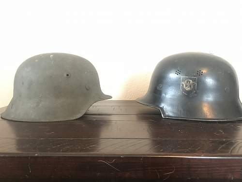 M42 and police/civic helmet