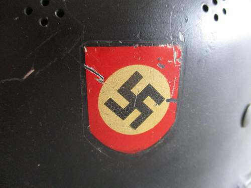 M34 feuershultzpolizei helmet war time or postwar?