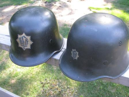 RLB helmets with different size decals