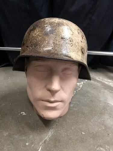 German M35 Snow Camo - Vet Art, Vet Bring Back Helmet