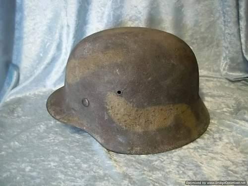 Cammoed helmet