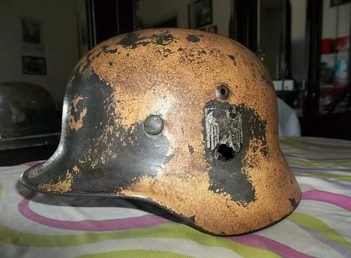 M35 DD Heer Q64 DAK ? helmet
