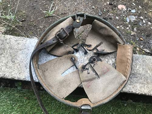 Original shortened helmet chinstrap with metalband?