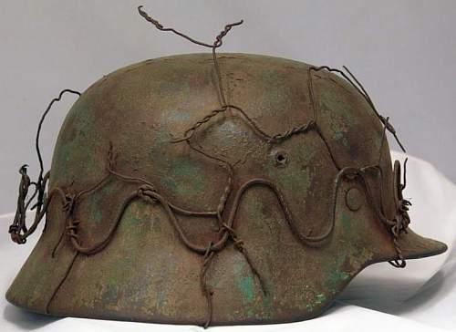 M35 Re-issue wire helmet