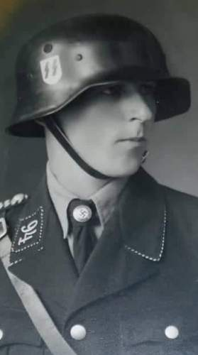 Black Himmlerstyle Helmet  without  ventilation bolts