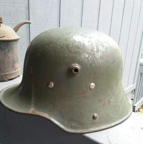 Need help authenticating this M16 German helmet and the worth of it.