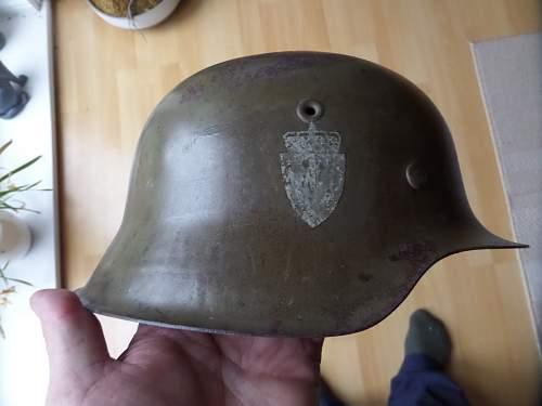 WW2 German M42 Helmet/Norwegian DD