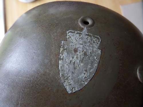 WW2 German M42 Helmet/Norwegian DD