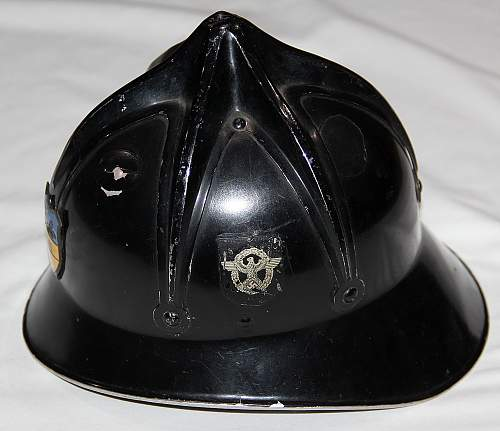 Early Double Decal Civic Fire Helmet with Weidling Shield
