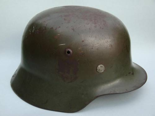 hallo need some opinions about 2 german m35 helmets