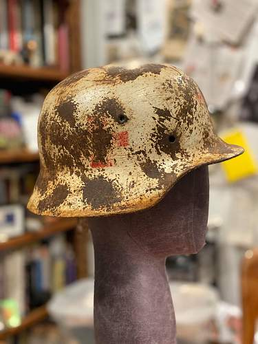 WWII Medic Camo Helmet (I believe this is fake but how fake is it?)