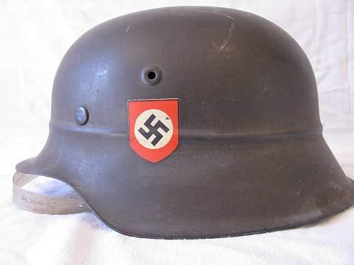 M40 beaded helmet, restauration question