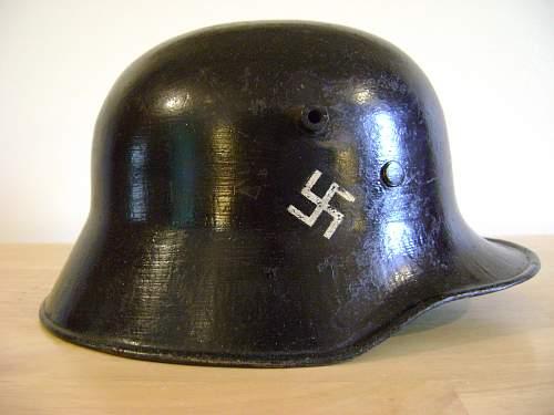 M18 Helmet - refurbished Fire Police?