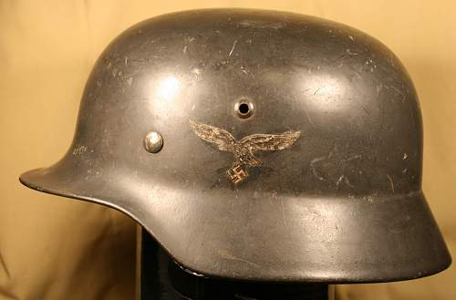 luftwaffe helmet is it a fake or what?