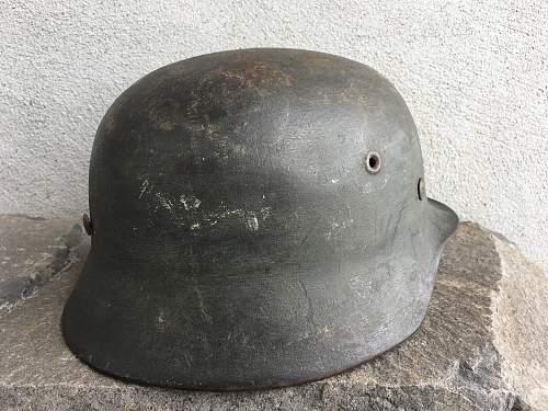 M40 ET64 Heer Sand Camo Painted Helmet