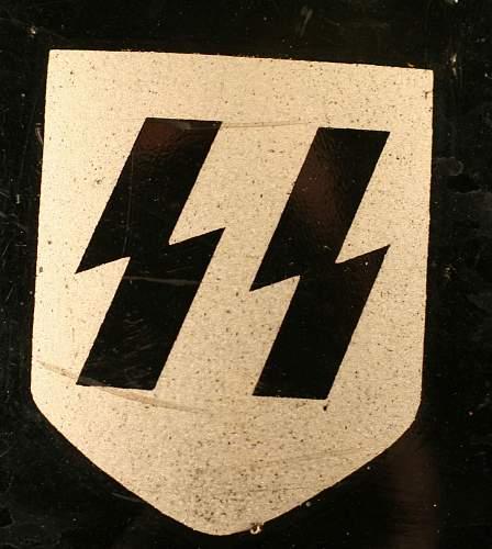 German ww2 polizie helmet, are the decals real?