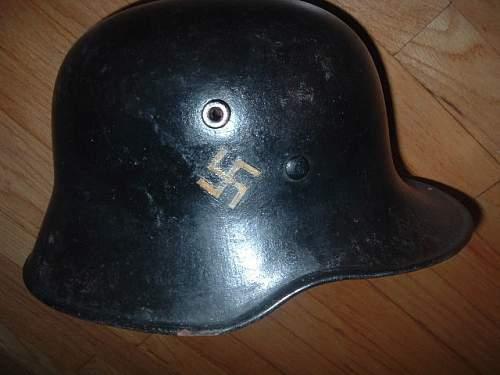 Early Transitional Fire Helmet