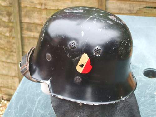 My early double decal fire/ police helmet