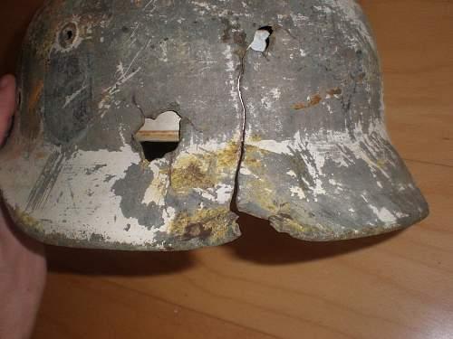 Bullet or shrapnel battledamaged?