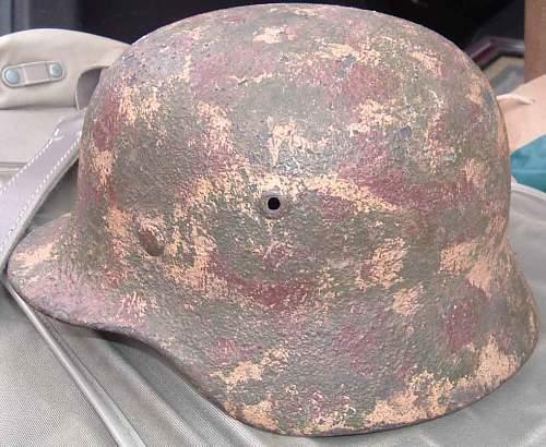 WW2 German Camouflage Helmet - Real Thing ?