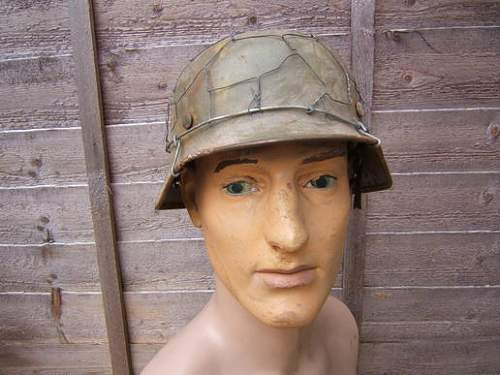 WW2 German Army Chickenwire M40 Helmet--Real or Fake?