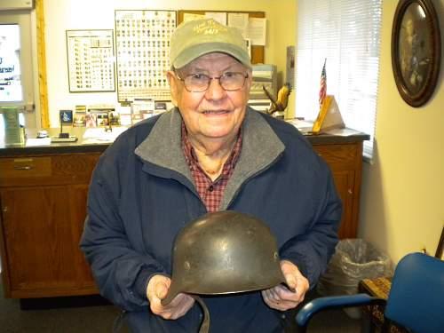 Helmet and veteran