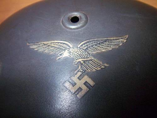 You think about this helmet with decals of Luftwaffe