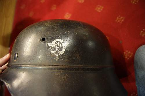 Beaded M1940 Luftschutzpolizei helmet