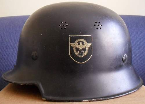 Please help!!  Need to know if authentic german police helmet