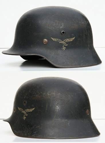 Click image for larger version.  Name:WWII-German-M40-SE64-Luftwaffe-Helmet.jpg Views:46 Size:177.9 KB ID:174082