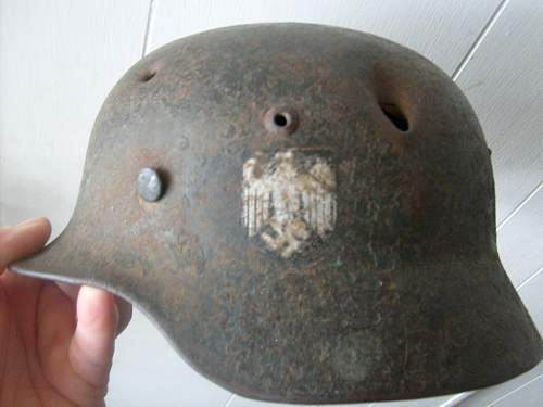 Battle damaged m-35 heer
